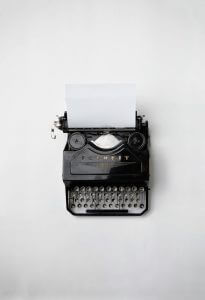 Picture of typewriter used as a contact us link