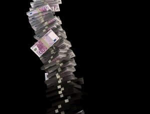 Picture of stack of euros as an investment