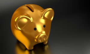 picture of pig on black background to symbolise investments